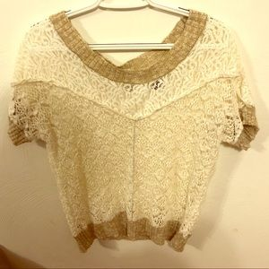 BKE Short Sleeved Sweater